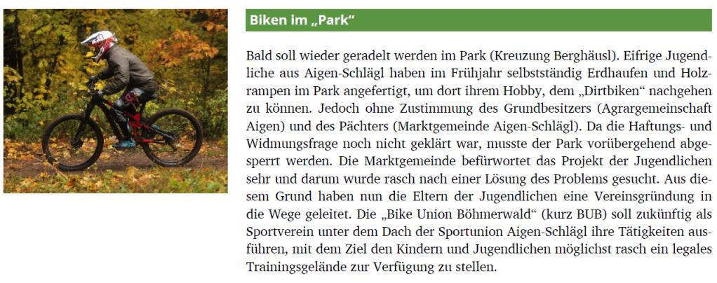 Beitrag Gemeindeinformation Aigen-Schlägl 08/2020